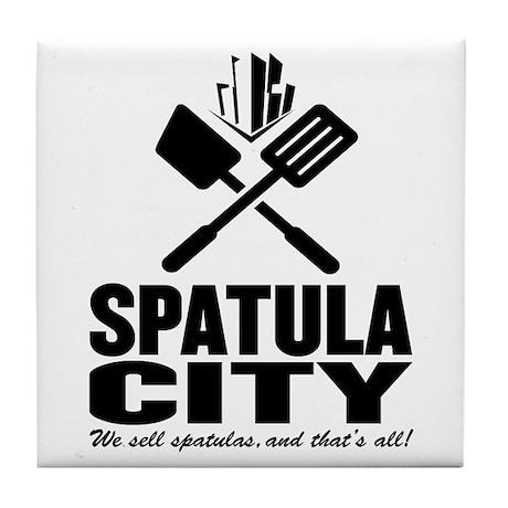 spatula city Tile Coaster