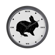 Black Rabbit Wall Clock