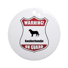 Kookier On Guard Ornament (Round)