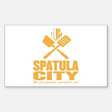 spatula city Rectangle Decal