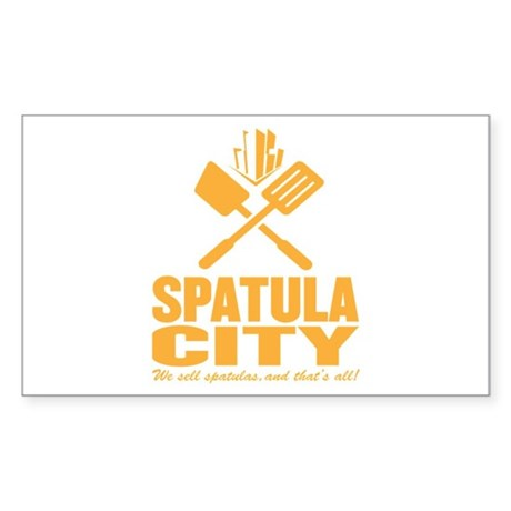 spatula city Rectangle Sticker
