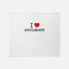 I Love SOULMATE Throw Blanket