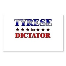 TYRESE for dictator Rectangle Decal