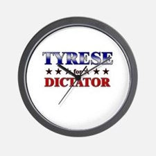 TYRESE for dictator Wall Clock