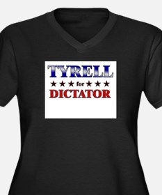 TYRELL for dictator Women's Plus Size V-Neck Dark