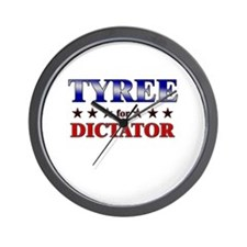 TYREE for dictator Wall Clock