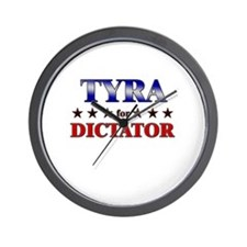 TYRA for dictator Wall Clock