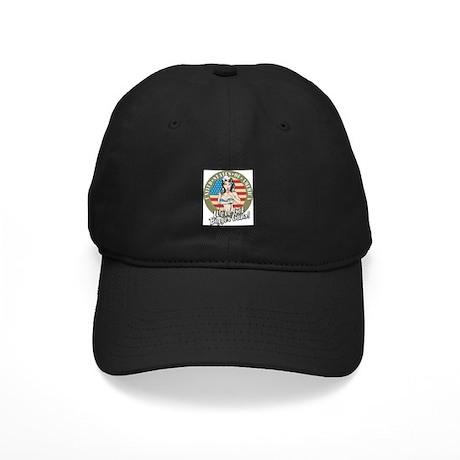 Patriotic Pinup Girl Black Cap