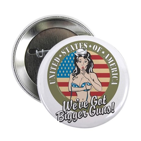 """Patriotic Pinup Girl 2.25"""" Button"""