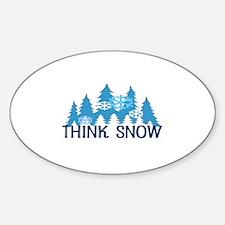Think Snow Sticker (Oval)
