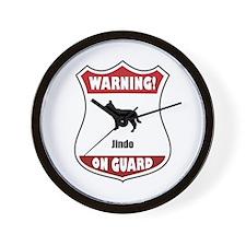 Jindo On Guard Wall Clock