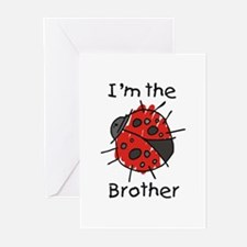 I'm the Brother Ladybug Greeting Cards (Pk of 10)