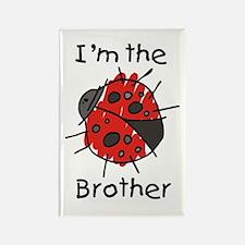 I'm the Brother Ladybug Rectangle Magnet