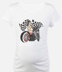 Pin Up Girl On Chopper Shirt