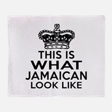 I Am Jamaican Throw Blanket
