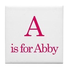 A is for Abby Tile Coaster