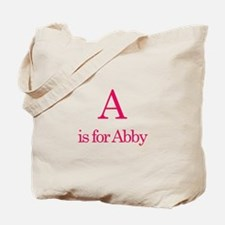 A is for Abby Tote Bag