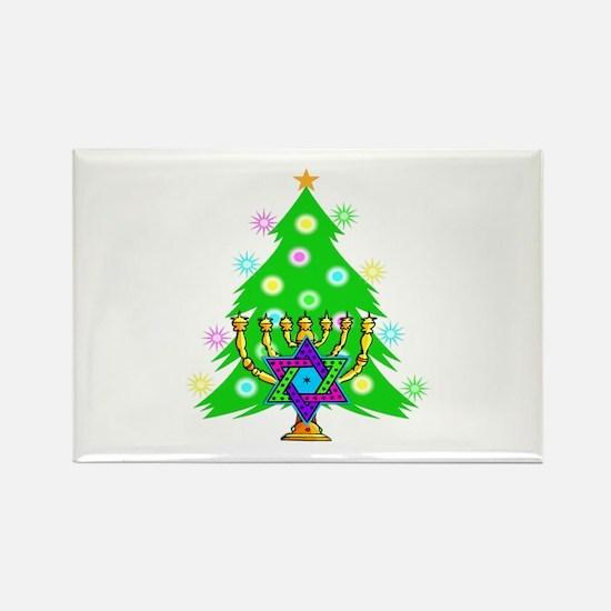 Christmas and Hanukkah Interfaith Rectangle Magnet