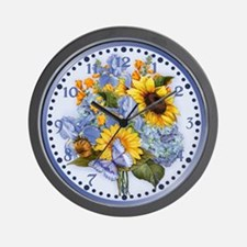 Summer Bouquet Wall Clock