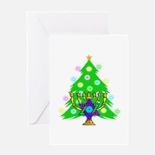 Christmas and Hanukkah Interfaith Greeting Card