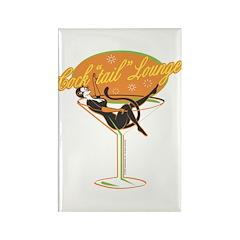 Bartender Cocktail Girl & Martini Rectangle Magnet