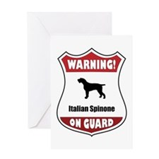 Spinone On Guard Greeting Card