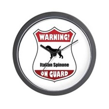 Spinone On Guard Wall Clock