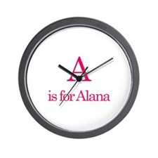 A is for Alana Wall Clock