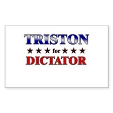 TRISTON for dictator Rectangle Decal