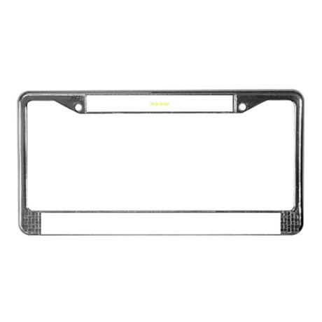 cheese, beer, snow License Plate Frame