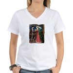 Sharing The Cup Women's V-Neck T-Shirt