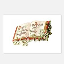 Victorian Book Postcards (Package of 8)