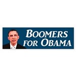 Boomers for Obama bumper sticker
