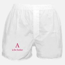A is for Amber Boxer Shorts