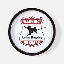 Sheepdog On Guard Wall Clock