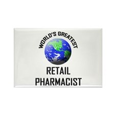 World's Greatest RETAIL PHARMACIST Rectangle Magne