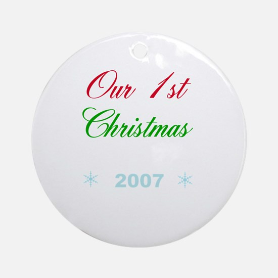 Our 1st Christmas Ornament (Round)