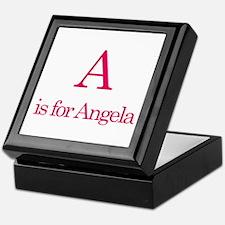 A is for Angela Keepsake Box