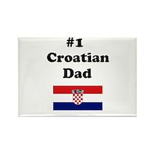 #1 Croatian Dad Rectangle Magnet
