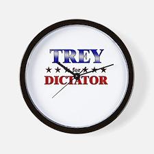 TREY for dictator Wall Clock