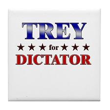 TREY for dictator Tile Coaster