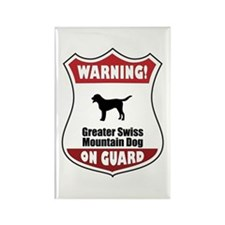 Swissie On Guard Rectangle Magnet