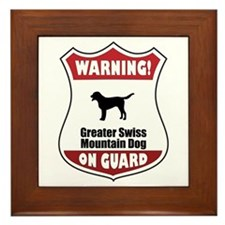 Swissie On Guard Framed Tile
