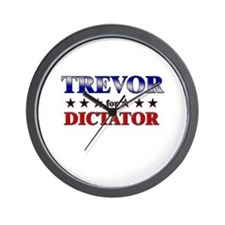 TREVOR for dictator Wall Clock