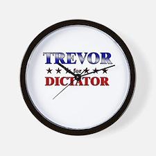 TREVOR for dictator Wall Clock