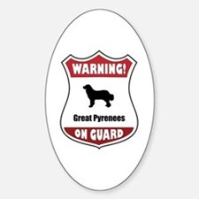 Pyrenees On Guard Oval Decal