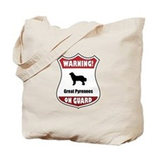 Pyrenees On Guard Tote Bag