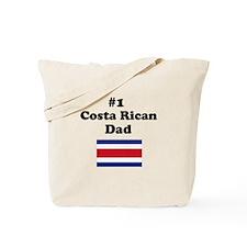 #1 Costa Rican Dad Tote Bag