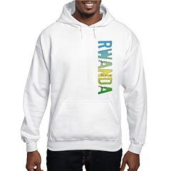 Rwanda Stamp Hooded Sweatshirt