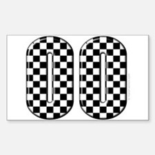 Race Car #00 Rectangle Decal